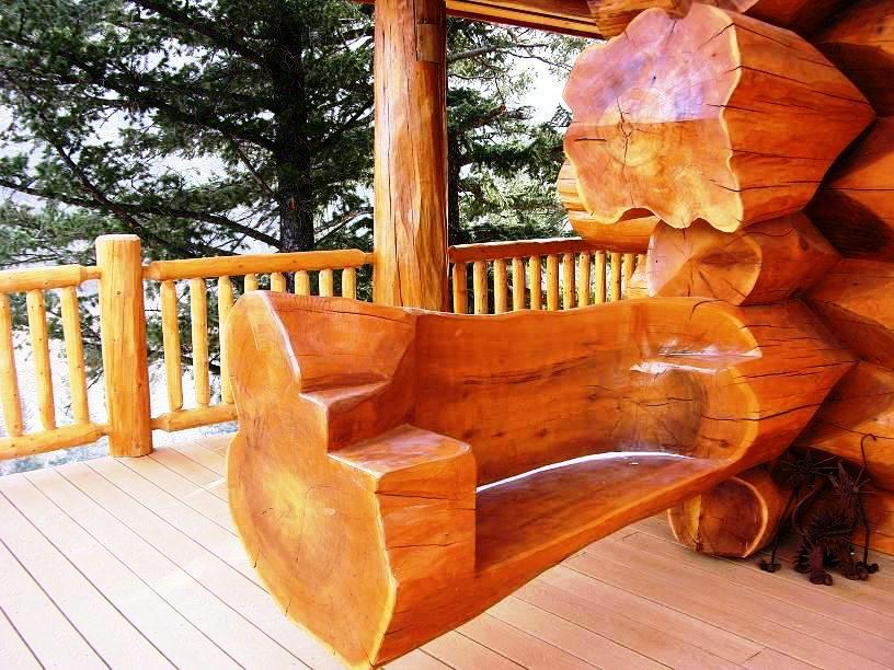 9Exterior-Log-Bench